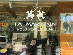La Martina shop in Gstaad